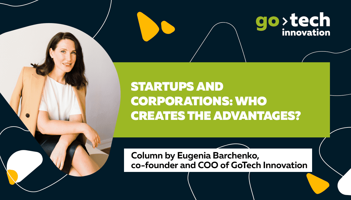 Startups and corporations: who creates the advantages?
